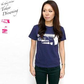 Tokyo Drowning Tシャツ The Ghost Writer tgw004tee-Z完- 半袖 パンクロックTシャツ アメカジ カジュアル かっこいい グラフィック バックプリント メンズ レディース 男女兼用 グリーン インディゴ 緑紺色系 ブランド コットン綿100%【RCP】