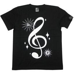 サウンドTシャツ(ブラック)tgw016tee-bk-Z完-半袖黒色トップスト音記号音部記号楽譜音楽ミュージックアメカジカジュアルかわいいかっこいいメンズレディースユニセックスブランド大きめサイズコットン綿100%Tシャツ屋さんバンビ【RCP】