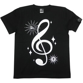 サウンド Tシャツ (ブラック) tgw016tee-bk-Z完- 半袖 黒色 トップス ト音記号 音部記号 楽譜 音楽 ミュージック アメカジ カジュアル かわいい かっこいい メンズ レディース ユニセックスブランド 大きめサイズ コットン綿100% Tシャツ屋さんバンビ【RCP】