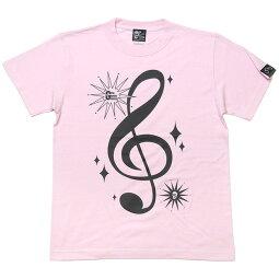 サウンドTシャツ(ライトピンク)tgw016tee-lp-Z完-半袖桃色トップスト音記号音部記号楽譜音楽ミュージックアメカジカジュアルかわいいかっこいいメンズレディース男女兼用ブランド大きめサイズコットン綿100%Tシャツ屋さんバンビ【RCP】