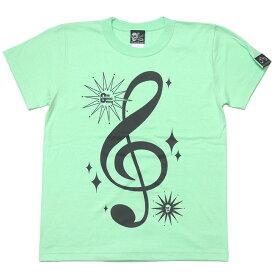 サウンド Tシャツ (メロン) tgw016tee-me-Z完- 半袖 甜瓜色 トップス ト音記号 音部記号 楽譜 音楽 ミュージック アメカジ カジュアル かわいい かっこいい メンズ レディース ユニセックスブランド 大きめサイズ コットン綿100% Tシャツ屋さんバンビ【RCP】