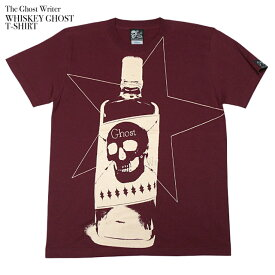 Whiskey Ghost Tシャツ - tgw032tee-Z完- 半袖 SKULL スカル ドクロ柄 ウイスキー パンクロックTシャツ ロゴ アメカジ カジュアル おしゃれ グラフィック メンズ レディース ペア ユニセックス ワイン ブラウン ホワイト 白色 綿100%【RCP】
