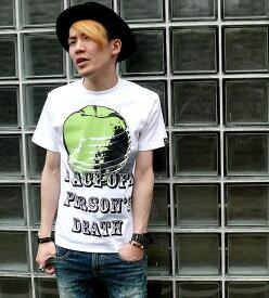 American Monster(green apple) Tシャツ -The Ghost Writer-tgw033tee-gr-Z完- 半袖 パンクロックTシャツ 林檎 リンゴ メッセージ アメカジ カジュアル ストリート かっこいい メンズ レディース 男女兼用 ホワイト 白色 オリジナルブランド【RCP】