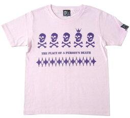 EDST-ゴースト5Tシャツ(ライトピンク)tgw035tee-lp-Z完-半袖ガイコツドクロ柄髑髏パンクロックTシャツバンドTシャツかっこいいかわいいアメカジカジュアルメンズレディース男女兼用大きいサイズコットン綿100%オリジナルブランド【RCP】