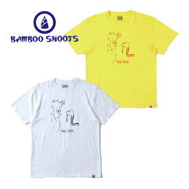 BAMBOO SHOOTS バンブーシュートThe End TEE ジエンドティープリント Tシャツ T-SH 半袖 カットソー アウトドア キャンプ フェス フジロック KEN KAGAMI 加賀美健 かっこいいT おしゃれT ユニセックス 丸首 クルーネック