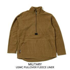 ★送料無料★MILITARY ミリタリーUSMC PULLOVER FLEECE LINER デッドストック フリース プルオーバー POLARTEC ジャケット アメリカ軍 USA 米軍 海兵隊 保温性
