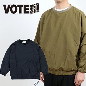 VOTE MAKE NEW CLOTHES ヴォートメイクニュークローズ CLASSICS FAT NYLON CREW クラシックス ファット ナイロンクルー ナイロン ビッグ T TEE ロンT ロンティー ユニセックス シンプル トップス スケーター フェス 90年代