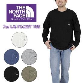 THE NORTH FACE PURPLE LABEL ザ ノースフェイス パープルレーベル7oz L/S POCKET TEE ロングスリーブ ポケットティー TNF プリント ロンT ロンティー 長袖 シンプル T 人気 おしゃれ かっこいい Tシャツ キャンプ フェス TNF ポケT ポケット ロゴ
