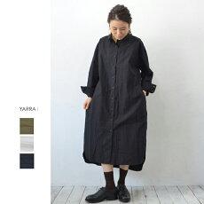 YARRA(ヤラ)高密度綿ロングシャツワンピース【YR-84-017】