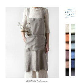 【10%OFFSALE】LINEN TALES(リネン テイルズ)Pinafore apron(ピナフォアエプロン)【CC-PA01】