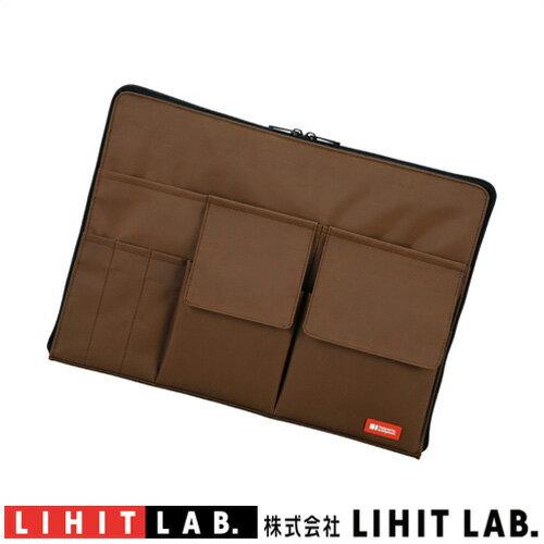 バッグインバッグ A4クリアファイル収納可能A-7554-9 ブラウンリヒトラブサコッシュカバンの中をスッキリ、スマートに整理。かさばらない薄型タイプカバンの中でかさばらない薄型タイプレディース