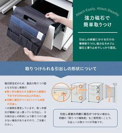 デスクポケットカラー/黒引き出しにける新しい収納スペース