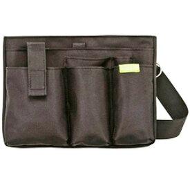 文具 エプロンバッグBE006BK(ブラック)フタがないからエプロンのポケットみたいに出し入れ簡単。薄マチでかさばらない。サコッシュバッグ医療 ナース 看護 介護 バッグウエストポーチ クツワエプロンバッグ ポーチ