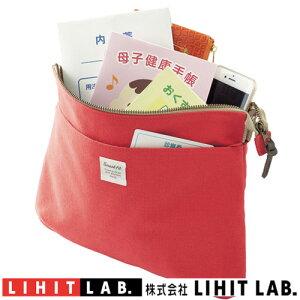 サコッシュポーチ LA7706-3 レッドリヒトラブSMART FIT DAYSポーチ サコッシュパスポート、航空チケット、マップなどの収納に。おくすり手帳、母子手帳、診察券などの収納に。ショルダーベルト