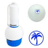ゴルフボール名入れスタンプ(ヤシの木)マーキングボールスタンプ自分のボールが一目瞭然!