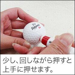 【特注】ゴルフボール名入れスタンプ(マーキングボールスタンプ)10mmΦオーダー品(青または赤)インク・溶剤とも3cc付ゴルフボール用スタンプ(オリジナル)【練習用コース用】