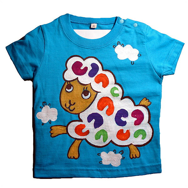 名入れTシャツ出産祝い 子供服 名入れ羊Tシャツ