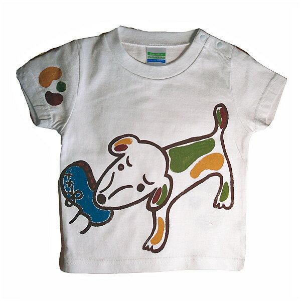 名入れTシャツ出産祝い 子供服 名入れ出産祝犬Tシャツ