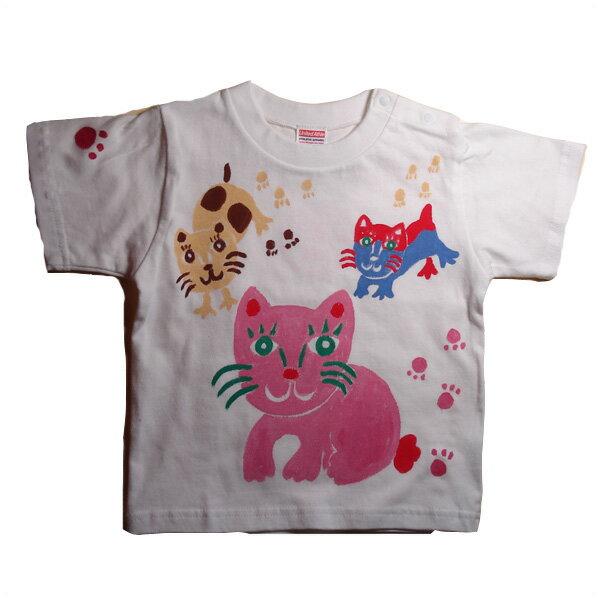 名入れTシャツ出産祝い 子供服 名入れ猫Tシャツ