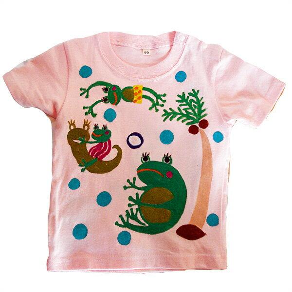 名入れTシャツ出産祝い 子供服 名入れすいすいカエルオリジナルTシャツ