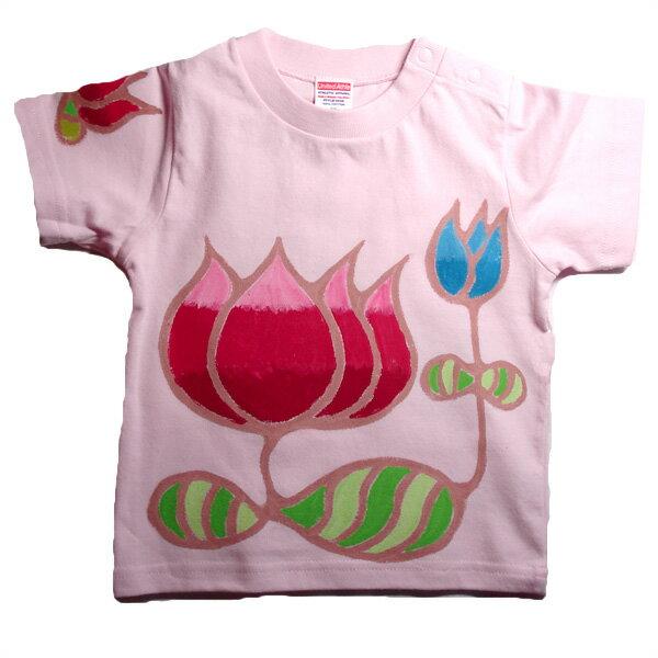 名入れ Tシャツ 出産祝い 子供服 名入れ蓮Tシャツ 男の子 女の子