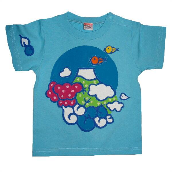 名入れTシャツ出産祝い 子供服 名入れ富士山Tシャツ