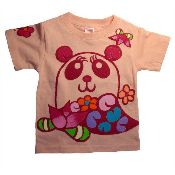 名入れTシャツ出産祝い 子供服 名入れ 出産祝花パンダTシャツ