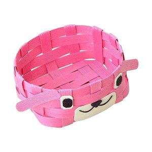 ハマナカ エコクラフトキット どうぶつかご 犬 ピンク H360-233-2 メーカ直送品  代引き不可/同梱不可