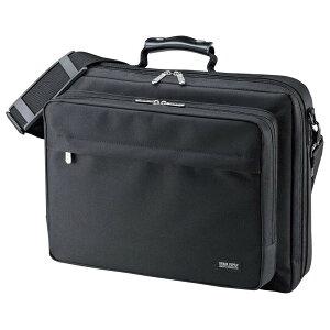 サンワサプライ PCキャリングバッグ 15.6インチワイド シングル ブラック BAG-U54BK2 メーカ直送品  代引き不可/同梱不可