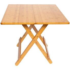 竹製折りたたみテーブル EF-BA04 メーカ直送品  代引き不可/同梱不可
