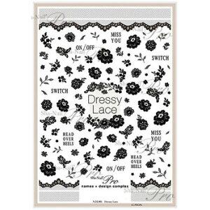 写ネイル ネイルシール Sha-NailPro Dressy Lace N-DL001 メーカ直送品  代引き不可/同梱不可