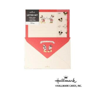 Hallmark ホールマーク ディズニー 便箋封筒セット シール・MMお手紙 6セット 770433 メーカ直送品  代引き不可/同梱不可
