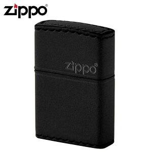 ZIPPO(ジッポー) オイルライター B-5革巻き 横ロゴ ブラック メーカ直送品  代引き不可/同梱不可