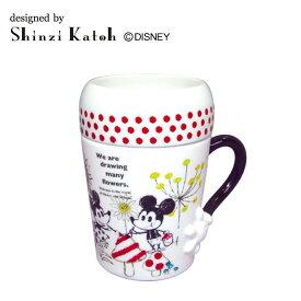 Shinzi Katoh-Disney フタ付きマグ A:drawing ARK-1183-2 メーカ直送品  代引き不可/同梱不可
