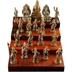 極小仏像 釈迦三尊十六善神(木台無し) 61393 メーカ直送品  代引き不可/同梱不可