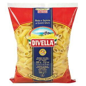 DIVELLA ディヴエッラ パスタ 42メッツェ・ペンネ・リガーテ 500g 24袋セット 606-155 メーカ直送品  代引き不可/同梱不可