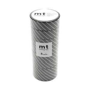 mt マスキングテープ 8P ストライプ・ブラック MT08D153 メーカ直送品  代引き不可/同梱不可
