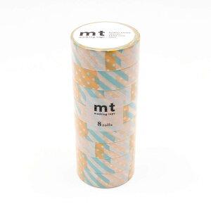 mt マスキングテープ 8P つぎはぎ・H MT08D172 メーカ直送品  代引き不可/同梱不可