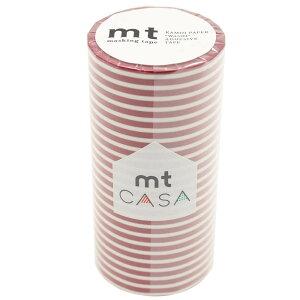 mt CASA マスキングテープ 100mm ボーダー・いちご MTCA1108 メーカ直送品  代引き不可/同梱不可