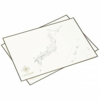 大人の白地図 カルトグラフィー ポスター・A3サイズ 日本 5枚入×3セット CG-A3J 代引き不可/同梱不可