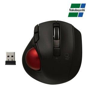 ナカバヤシ Digio2 極小トラックボール「Q」 小型 無線 静音 5ボタントラックボール ブラック MUS-TRLF132BK メーカ直送品  代引き不可/同梱不可