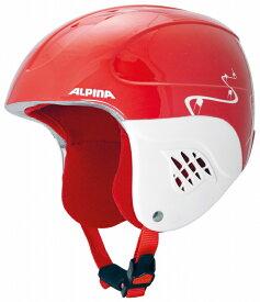 セール 16-17 アルピナ (A9035358) ジュニアスキーヘルメット CARAT 54~58cm レッド/ターンズ (K)