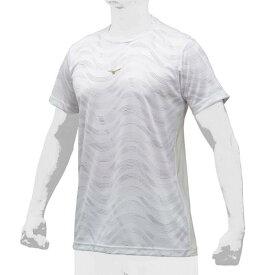 セール ミズノ (12JA9T5401) ミズノプロデザインTシャツ丸首 ホワイト (K)