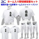 名前入り 人気 ミズノ 野球 選べるユニフォームシャツとパンツセット 昇華プリント 片胸+背中ネーム加工 ホワイト ニット 12JC9F6001/…