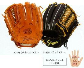 型付け無料 久保田スラッガー 野球 硬式 グローブ KSG−L7S セカンド・ショート・サード用(内野手用) 【橙】【黒】 【KSGL7S】【返品・交換不可】