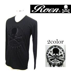 \800円OFFクーポン配布中/Roen ロエン Blood Circle L T ブラッドサークルロングTシャツ メンズ 72147103 スカル【3980円以上購入で送料無料】