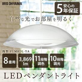 洋風LEDペンダントライト メタルサーキットシリーズ 浅型 8畳調色 PLM8DL-YA 洋風 LEDペンダントライト 浅型 8畳 調光 調色 メタルサーキット LEDシーリングライト LEDライト シーリングライト LED照明 LED 照明 照明器具 オーヤマ