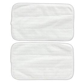 スチームモップ モップ用マイクロファイバーパッド STMP-025 ホワイトスチームモップ パッド フローリング 畳 カーペット 絨毯 大掃除 シミ 汚れ 交換用 替え スペア 買い置き 洗い替え オーヤマ マイクロファイバー スチーム モップ クリーナー