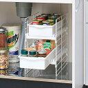 スライドトレー UST-2V送料無料 トレー シンク下 収納 引き出し ラック キッチン 収納 整理 棚 小物 流し台 台所 アイリスオーヤマ 便利 使いやすい シンプル 収納棚 小物入れ 整理整頓 整頓 キッチン用品