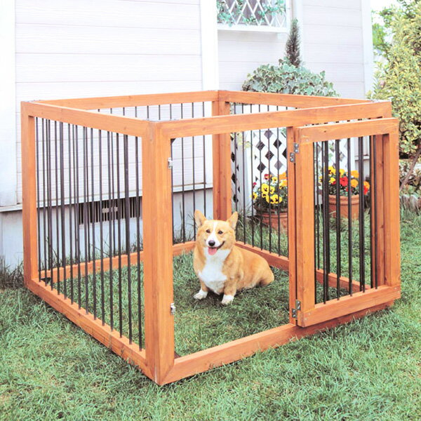 【送料無料】木製ペットサークル4枚セット KS-904S アイリスオーヤマ ペット用品【小型犬 中型犬 愛犬 囲い】